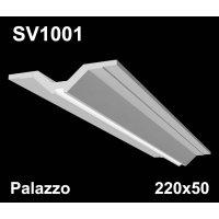 SV1001 - встраиваемый светильник для светодиодной подсветки из гипса Palazzo 220х50мм