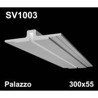 SV1003 - встраиваемый светильник для светодиодной подсветки из гипса Palazzo 300х55мм