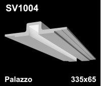 SV1004 - встраиваемый светильник для светодиодной подсветки из гипса Palazzo 335х65мм