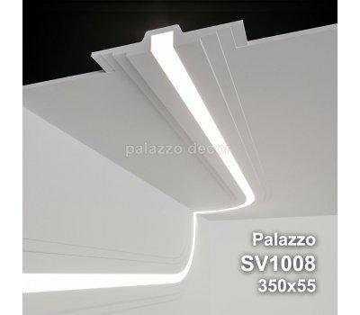 SV1008 - встраиваемый светильник для светодиодной подсветки из гипса Palazzo 350х55мм