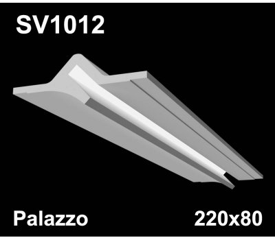 SV1012 - встраиваемый светильник для светодиодной подсветки из гипса Palazzo 220x80мм