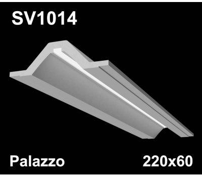 SV1014 - встраиваемый светильник для светодиодной подсветки из гипса Palazzo 220x60мм
